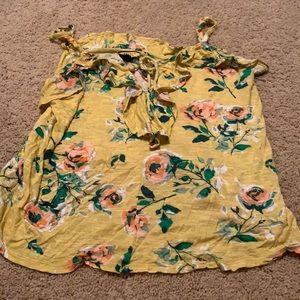 Prince & Fox large yellow floral shirt